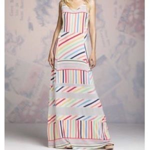 Peter Som Design Nation Rainbow Striped Maxi Dress